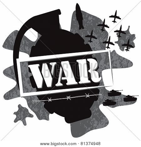 war grenade design illustration vector