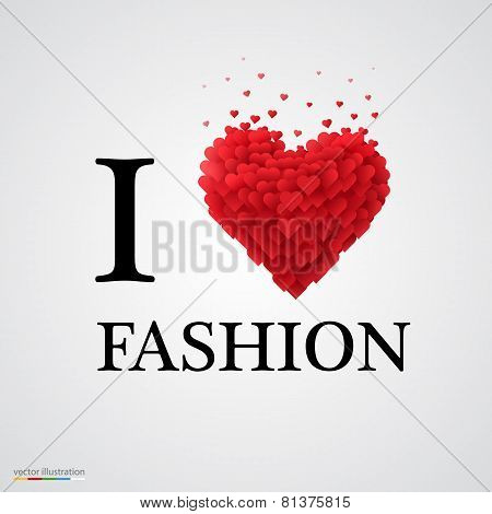 i love fashion heart sign.