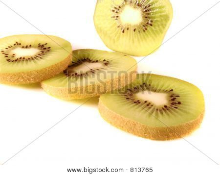Kiwi Fruit On White Background