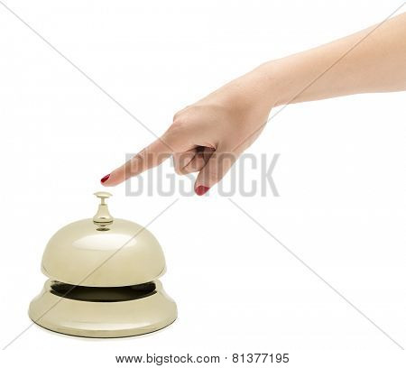 Female Finger Ringing Hotel Bell
