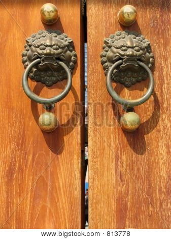 Door Handle at Jing An Temple