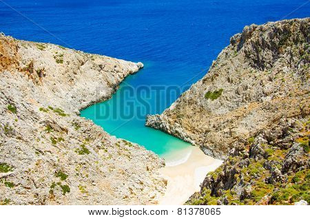 Crete Bay - Beautiful isolated Bay in the southern of crete, close to chania
