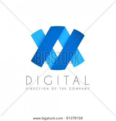 Abstract business logo icon design. Digital concept logo template