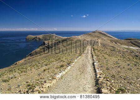 Scenic Path On Isla Del Sol