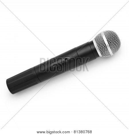 microphone radio vintage isolated white background