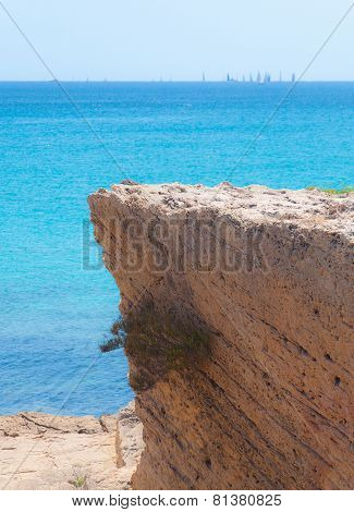 Steep cliff by the Mediterranean