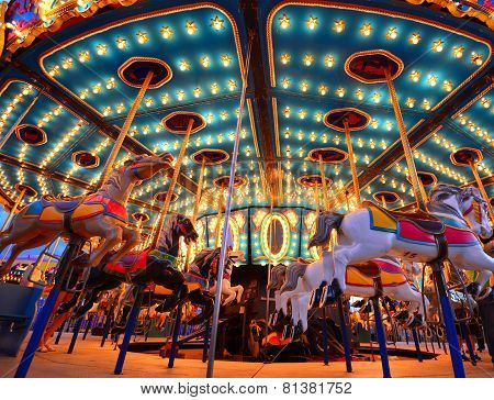 carousel and ferris wheel