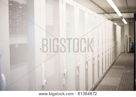 Serverrack Network Hub in Data Center