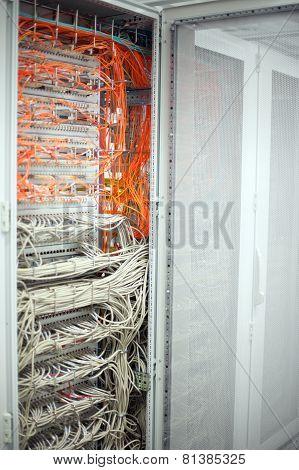 Network Switch LAN and optical fiber LWL