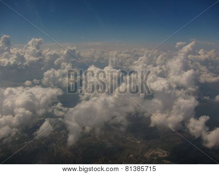 clouds and country