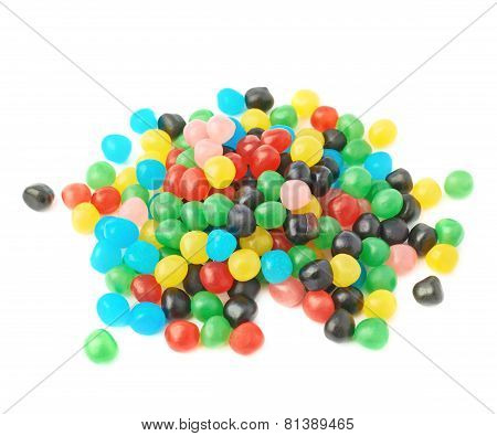 Pile of candy ball sweets isolated