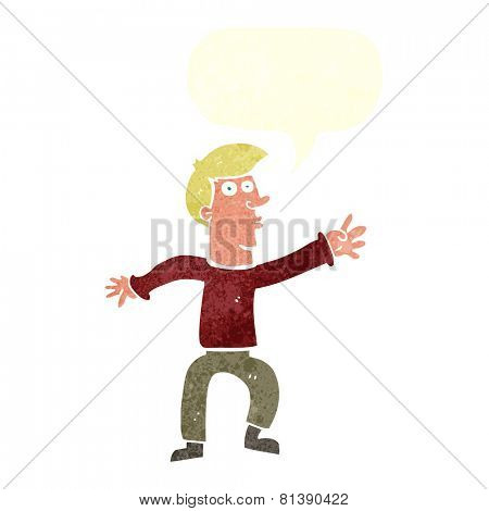 cartoon man reaching
