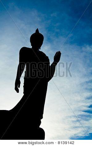 Silhueta de Buda