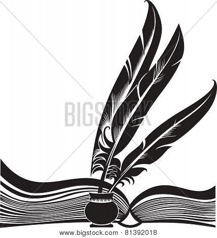Book And Feathers