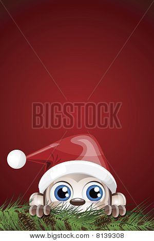 Cute Character Christmas Background