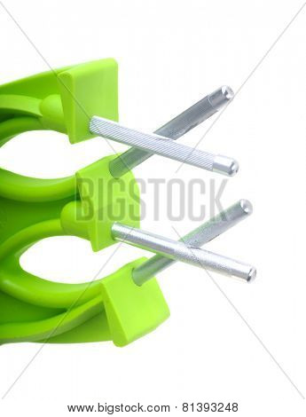 Closeup of knife sharpener isolated on white