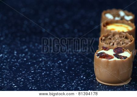 Assorted Chocolate Confectionery With Copy-space