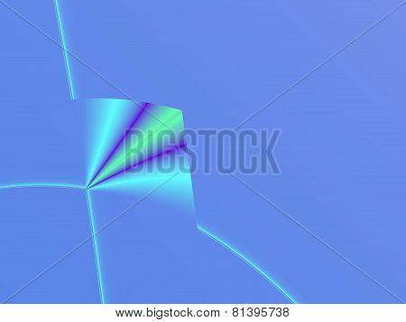 Folded blue infinite space