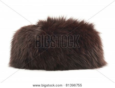 Fur hat isolated