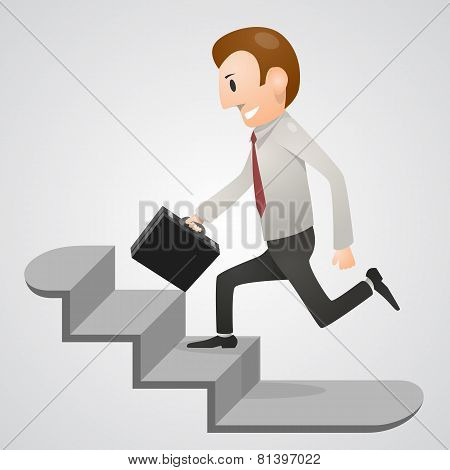 Office man in a hurry