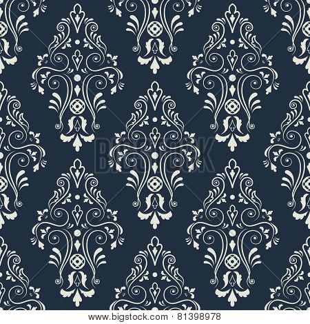 Seamless  pattern on a dark blue.