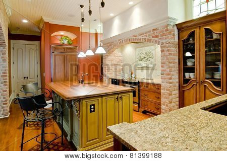 expensive kitchen in Tuscan style