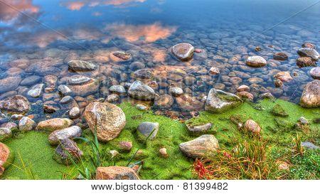 Hdr Of River Edge Rocks