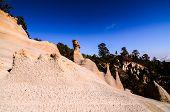 stock photo of chimney rock  - Rock Formations Paisaje Lunar on Canary Island Tenerife - JPG