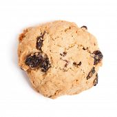 foto of baked raisin cookies  - Cookies with raisins isolated on white background - JPG