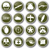 image of army  - military army related  icon set vector illustration - JPG