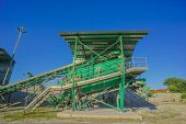 image of sand gravel  - Industrial Gravel Quarry and Sand Stone Refinery - JPG
