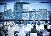 pic of conversation  - Business People Meeting Room Conversation Team Working Concept - JPG