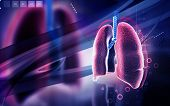 picture of larynx  - Digital illustration of human lungs in colour background - JPG