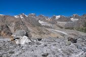 pic of shan  - Picturesque view of glacier and highest peaks in Tien - JPG