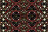 picture of motif  - Digital art geometric motif abstract pattern mandala background in dark warm tones - JPG