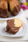 picture of lice  - Home made Gugelhupf Sponge Cake with chocolate - JPG