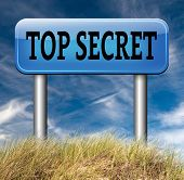 stock photo of top-secret  - top secret confidential and classified information private property or information road sign arrow - JPG