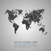 pic of polygon  - Map 3d polygon art map - JPG