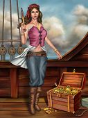 pic of cap gun  - Female pirate - JPG