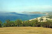 foto of siberia  - atmospheric landscape of the Olkhon island at Lake Baikal Russian Siberia - JPG