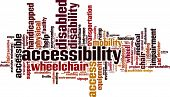 stock photo of braille  - Accessibility Word Cloud Concept - JPG