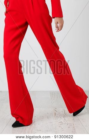 Red Pants On White