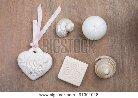 Nice Composition Of Beauty Object And Shell For Spa