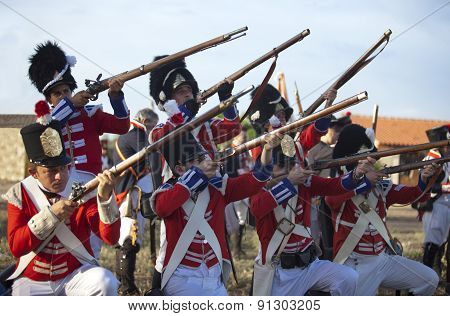 English Soldiers Pointing