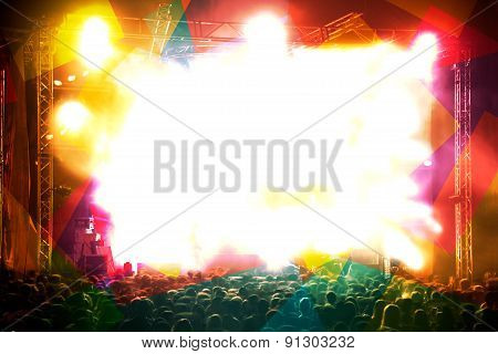 Abstract live music background