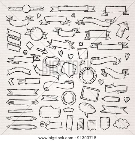 Hand drawn sketch elements