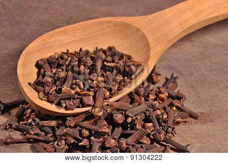 Dried Clove In A Spoon