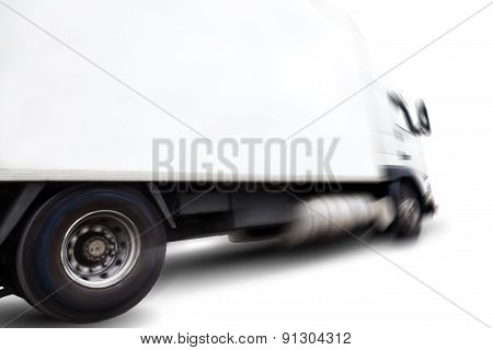 Truck isolated over white