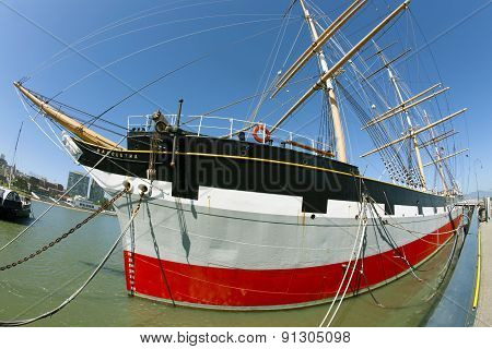 Vintage 1886 sailing ship Balclutha on public display
