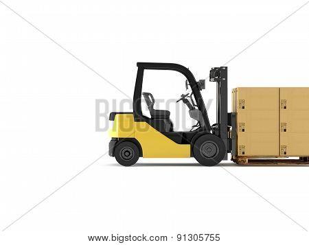 Logistic. 3d rendering